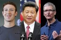Chủ tịch Trung Quốc Tập Cận Bình gặp giám đốc Facebook, Apple