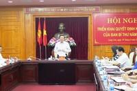 Ban Bí thư triển khai quyết định kiểm tra công tác tổ chức cán bộ