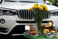 Ôtô BMW mới tinh cháy trụi vì chủ nhân cúng xe lấy may