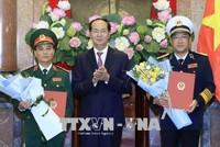 Chủ tịch nước trao quyết định thăng quân hàm cho các sĩ quan quân đội cấp cao
