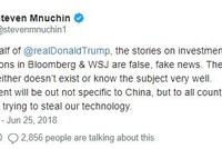 Mỹ muốn giới hạn Trung Quốc đầu tư vào công ty công nghệ