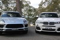 Hai xe BMW hích nhau suýt lật giữa đường