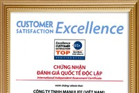 """Manulife được trao chứng nhận """"Doanh nghiệp xuất sắc về chỉ số hài lòng khách hàng"""""""