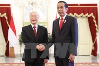 Tổng Bí thư Nguyễn Phú Trọng và Tổng thống Joko Widodo hội đàm, chứng kiến ký kết một loạt văn kiện hợp tác