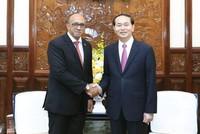 Chủ tịch nước Trần Đại Quang tiếp Đại sứ Cộng hòa Cuba