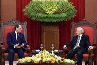 Tổng Bí thư Nguyễn Phú Trọng tiếp Tổng thống Ai Cập Abdel Fattah Al Sisi