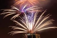 Trình diễn pháo hoa tại Tháp Bitexco Financial Tower