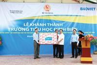 Bộ Tài chính và Tập đoàn Bảo Việt tài trợ hơn 6 tỷ đồng xây trường tiểu học
