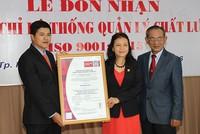 COMECO đón nhận Chứng chỉ ISO 9001:2015