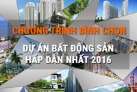 Bình chọn dự án bất động sản hấp dẫn nhất 2016