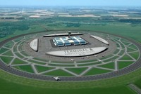 Ý tưởng sân bay có đường băng hình tròn, bằng 4 đường băng cộng lại, 3 máy bay lên xuống cùng lúc