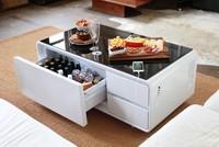 Sobro, chiếc bàn uống nước giá 1.500 USD tích hợp máy nghe nhạc, bộ sạc và cả tủ đông lạnh thực phẩm