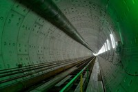 Đường hầm 800m của tuyến metro Sài Gòn đã hình thành
