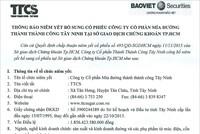 SBT thông báo niêm yết bổ sung cổ phiếu tại HOSE