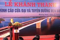 Chính thức khánh thành Cầu Cửa Đại và tuyến đường ven biển Hội An -Tam Kỳ