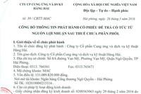 CTCP Cung ứng và dịch vụ kỹ thuật Hàng Hải công bố phát hành cổ phiếu trả cổ tức
