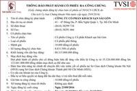 CTCP Khách sạn Sài Gòn thông báo phát hành cổ phiếu ra công chúng