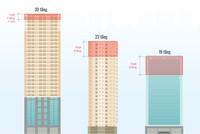 [Infographic] Những cao ốc bị 'cắt ngọn' ở Hà Nội