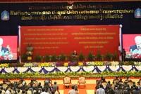 Tổng Bí thư Nguyễn Phú Trọng nói chuyện tại Đại học Quốc gia Lào