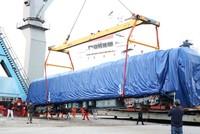 Hai đầu máy đoàn tàu Cát Linh - Hà Đông cập cảng Hải Phòng