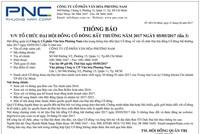 Công ty cổ phần Văn hóa Phương Nam thông báo tổ chức ĐHCĐ bất thường 2017