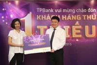 TPBank chào mừng khách hàng thứ 1 triệu