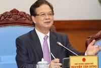 Thủ tướng Nguyễn Tấn Dũng nói lời chia tay các thành viên Chính phủ