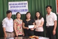 Quỹ Bảo hiểm xe cơ giới hỗ trợ nhân đạo cho nạn nhân tai nạn giao thông ở  Nghệ An và Hà Nội