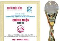 AIA Việt Nam: Thương hiệu Việt Nam tin dùng 2015