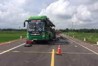 PTI tạm ứng bồi thường vụ ôtô giường nằm tông xe đầu kéo tại Bình Định