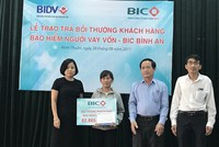 BIC bồi thường 82 triệu đồng cho khách hàng vay vốn tại BIDV Ninh Thuận