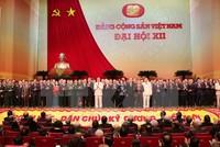 Đại hội công bố danh sách Bộ Chính trị, Tổng bí thư khóa XII