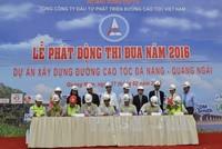 VEC quyết thông xe 65 km đầu tiên cao tốc Đà Nẵng - Quảng Ngãi trong năm 2016