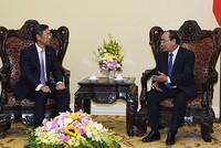 Thủ tướng tiếp Chủ tịch châu Á - Thái Bình Dương Ngân hàng SMBC