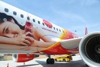 Máy bay A320 Sharklet của Vietjet mang hình ảnh Coca-Cola