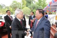 Tổng Bí thư Nguyễn Phú Trọng hội đàm với Tổng Bí thư Lào Volachith