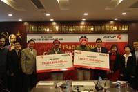 Hai khách hàng ở Thái Bình, Bến Tre nhận giải Jackpot 160 tỷ