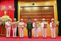 Chủ tịch nước thăng hàm cấp Tướng cho một số sĩ quan công an