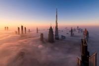 """Chiêm ngưỡng """"ốc đảo"""" Dubai chìm trong màn sương mù huyền ảo"""