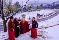 Bhutan mùa tuyết tan