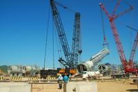 LM8 lắp thành công tháp chưng cất tại lọc hóa dầu Nghi Sơn
