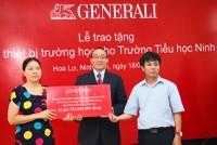 Generali Việt Nam tặng gói thiết bị gần 750 triệu cho trường Tiểu học Ninh Giang