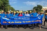 """Cán bộ Bảo Việt Nhân Thọ đi bộ gây quỹ """"Gắn kết yêu thương - Vui bước đến trường"""""""
