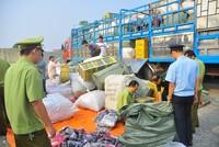 Bắt giữ nhiều xe tải nghi nhập lậu hàng hóa từ Lạng Sơn về Ninh Hiệp