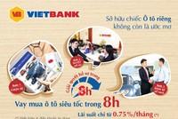 VietBank cho vay mua ô tô lãi suất 0,75%/tháng