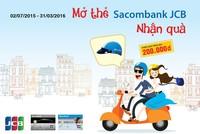 Nhận nón bảo hiểm và phiếu quà tặng với thẻ Sacombank - JCB