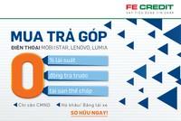 FE Credit cho vay trả góp mua điện thoại Mobiistar, Lenovo, Lumia lãi suất 0%