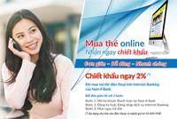 Mua mã thẻ qua Internet Banking của Nam A Bank