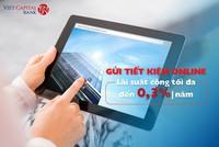Viet Capital Bank tăng lãi suất tết kiệm online tối đa lên 7,5%/năm