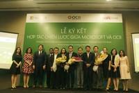 OCB ký hợp tác ciến lược với Micorosoft